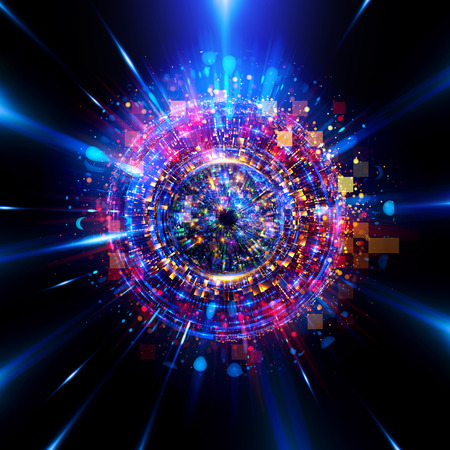 Abstract background. luminous swirling. Elegant glowing circle. Big data cloud. Light ring.