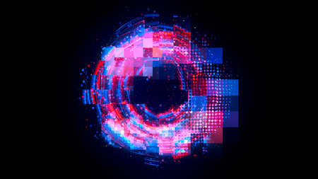 Abstract background. luminous swirling. Elegant glowing circle. Big data cloud. Light ring. Sparking particle. Space tunnel. Colorful ellipse. Glint sphere. Bright border. Magic portal. Energy ball.