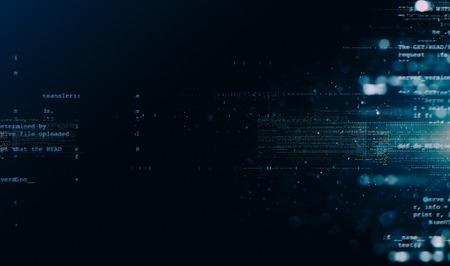 Zusammenfassung Tech-Hintergrund. Schwimmende Zahlen HUD Hintergrund. Matrix Partikel Gitter virtuelle Realität. Smart bauen Gitterkern Hardwarequantenform Zukunftstechnologie Decodierung von dna Standard-Bild - 86434105