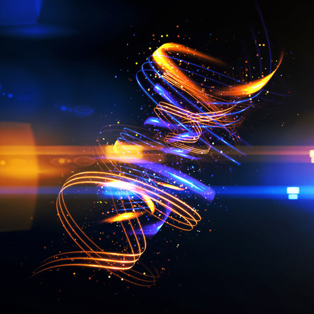 radiant: Glow swirl light effect. Circular lens flare. Abstract rotational lines. Power energy element.    Luminous shining neon lights cosmic abstract frame. Magic round frame. Swirl trail effect Stock Photo