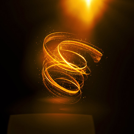 Glow swirl light effect. Circular lens flare. Abstract rotational lines. Power energy element.    Luminous shining neon lights cosmic abstract frame. Magic round frame. Swirl trail effect Stock Photo