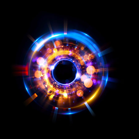 ellipse: Abstract neon background. luminous swirling. Glowing spiral cover. Black elegant. Halo around. Power isolated. Sparks particle. Space tunnel. Glossy jellyfish. LED color ellipse. Glint glitter Foto de archivo