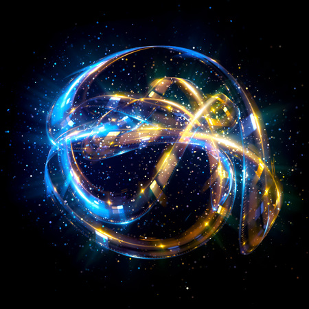 Abstract background. luminous swirling. Elegant glowing circle.