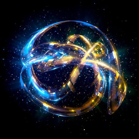 Abstract background. luminous swirling. Elegant glowing circle.