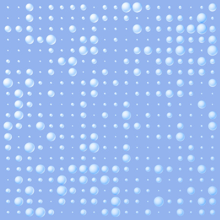 Seamless Pattern with Halftone Dots. 3d white and black Ink Dots. Spotted Effect. Aging Dots Overlay.  Random size molecules.