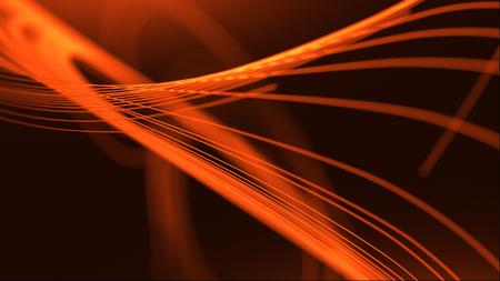 抽象的な曲線の3d 線。優雅で滑らかなスウッシュの速度の波。モダンストリームの背景。3d レンダー。 ラジアルモーション移動効果。明るい糸。ス