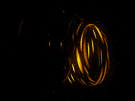 Glow effect. Ribbon glint. Abstract rotational border lines. Power energy. LED glare tape. Luminous shining neon lights cosmic abstract frame. Magic design round whirl. Swirl trail effect.