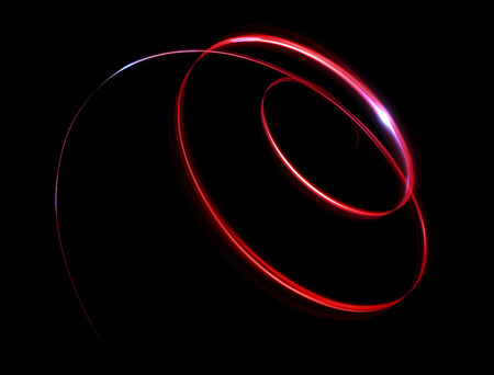 Glow effect. Ribbon glint. Abstract rotational border lines. Power energy. LED glare tape.  Luminous shining neon lights cosmic abstract frame. Magic design round whirl. Swirl trail effect. Zdjęcie Seryjne