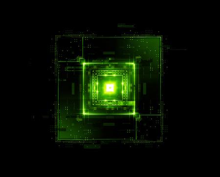 Information CPU engineering. Modern technology. Computer communications. Light effect. Big data center. Hologram. Blockchain. Super system. Smart core. Research and development. Digital signal error Reklamní fotografie