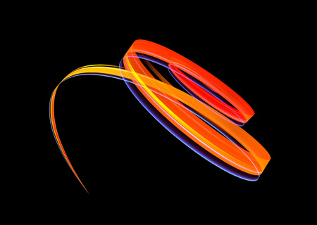 Glow effect. Ribbon glint. Abstract rotational border lines. Power energy. LED glare tape.  Luminous shining neon lights cosmic abstract frame. Magic design round whirl. Swirl trail effect. Reklamní fotografie