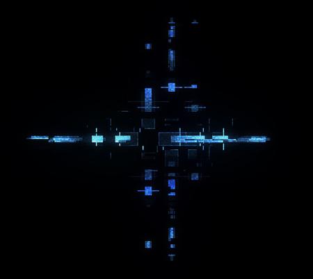 Information CPU engineering. Modern technology. Computer communications. Light effect. Big data center. Hologram. Blockchain. Super system. Smart core. Research and development. Digital signal error Stock Photo