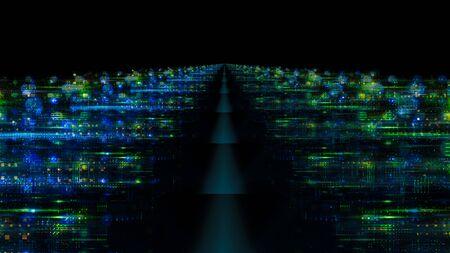 3d illustration Data storage service. Stock Photo