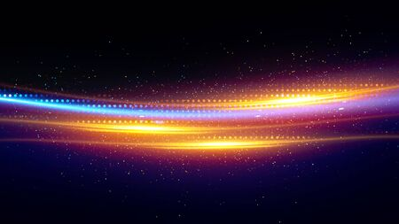 Shining neon cosmic streaks abstract background 스톡 콘텐츠