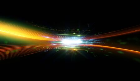 Digital signal abstract background Imagens