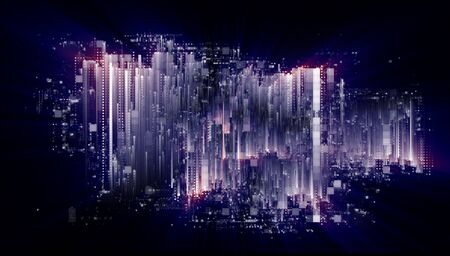 Quantum computer system. Internet connection.