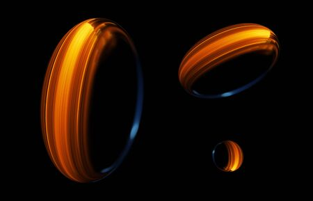 Colorful ellipse abstract background 写真素材