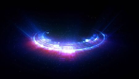 Light ellipse abstract background