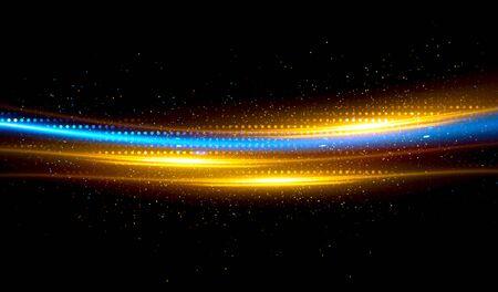 Shining neon cosmic streaks abstract background Фото со стока
