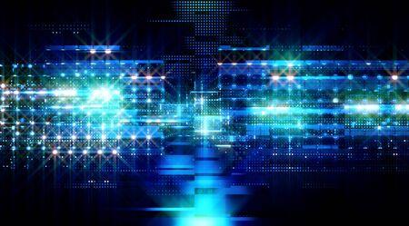 Data storage service. Server room concept. Modern web network. Stock Photo