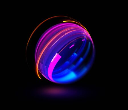Ray ring ball abstract background