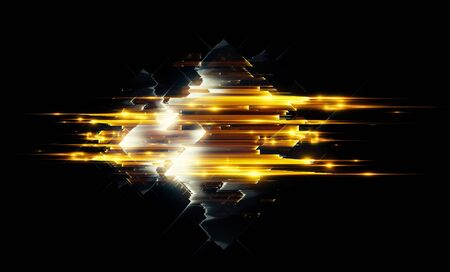 Light golden geometry abstract background