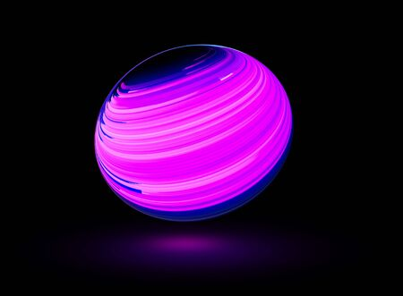 Bright circle abstract background