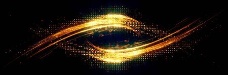 Shining neon cosmic streaks. 스톡 콘텐츠