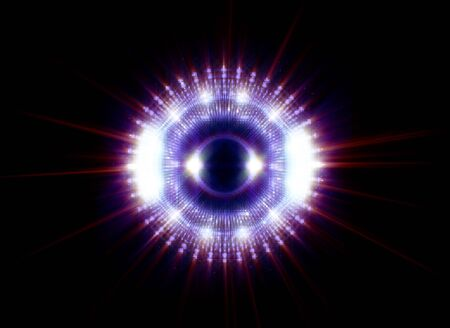 Fond abstrait vif. Belle conception du cadre de rotation. Portail mystique. Lentille sphérique lumineuse. Lignes tournantes. Anneau lumineux. Boule de néon magique. Led tourbillon flou. Lignes de reflets en spirale.