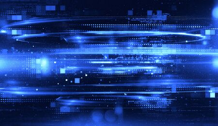 Abstract tech background. Floating Numbers HUD Background. Matrix particles grid virtual reality. Smart build. Grid core. Hardware quantum form. Future technology Banque d'images