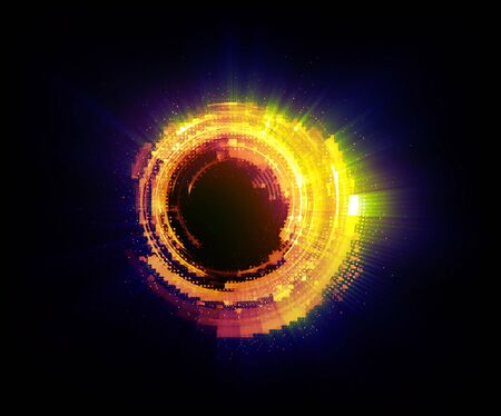 Vivid abstract background. Beautiful design of rotation frame.  