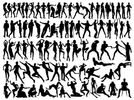 poses:   silhouettes of people