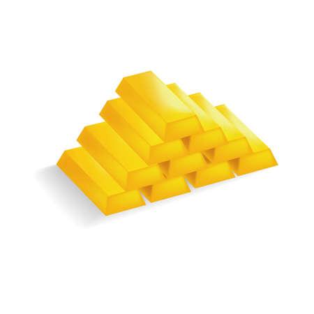 gold bars: Pyramid of gold bars
