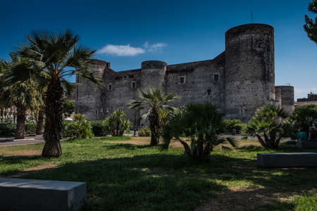 Ursino Castle in Catania, Sicily, built by Federico II of Swabia Editorial