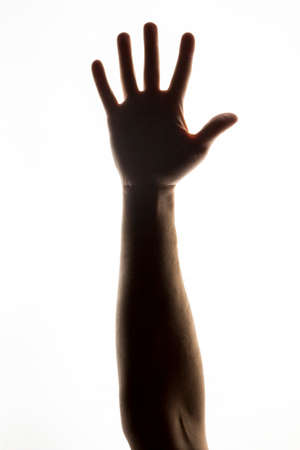 closed fist: hand on a white background Stock Photo