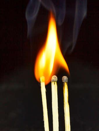 cerillos: fósforos quemados Foto de archivo