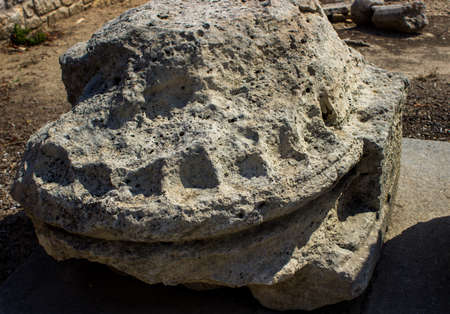 Ancient stone from the Temple of Ammon Zeus