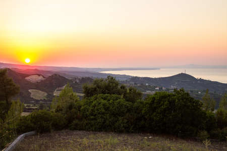 Sunset in the mountains, Cassandra Stock Photo