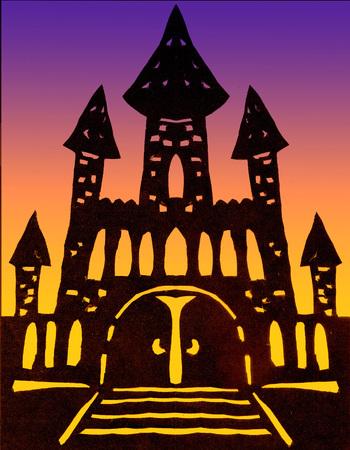 Clipart sinister castle
