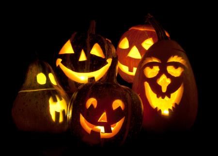 Candles   pumpkins
