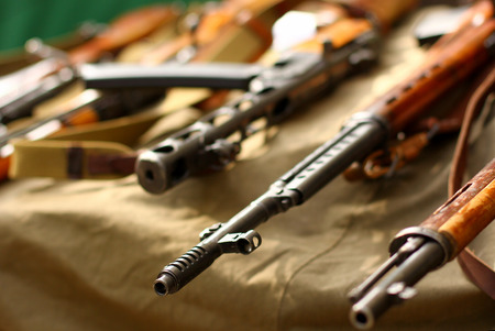 Retro guns 版權商用圖片
