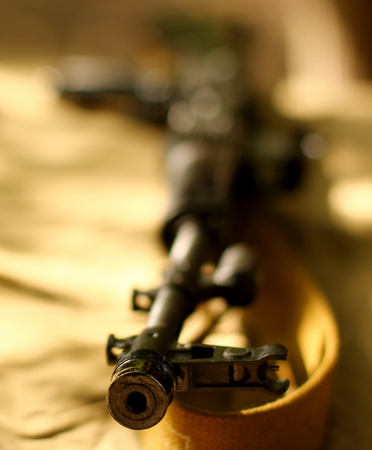 Background with sniper Stock Photo