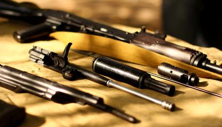 AK-47 Kalashnikov. body parts