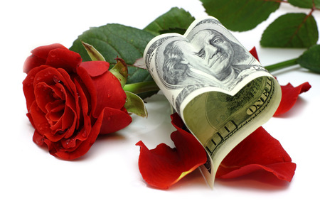 Heart of the dollar and rose
