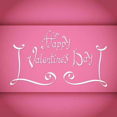Happy Valentines Day Vintage Lettering Background 向量圖像