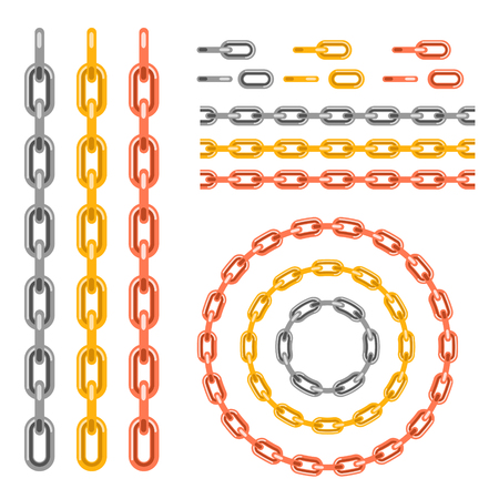 Metal chain pattern brush vector.