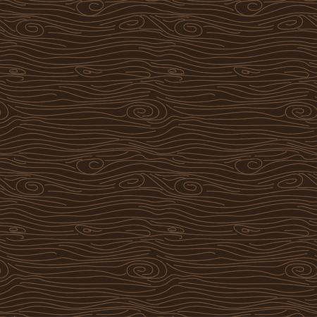 Tree bark brown texture vector seamless pattern. Vetores
