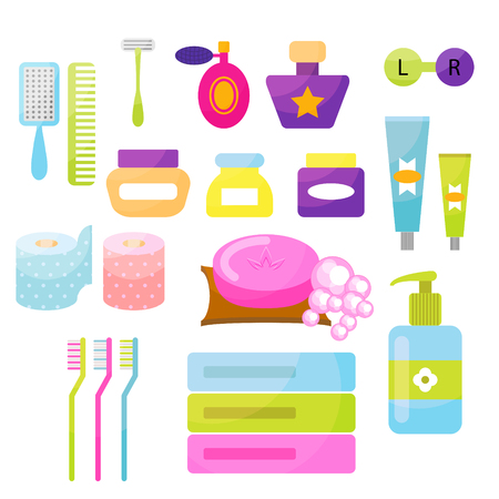 personal hygiene: Personal hygiene vector items.
