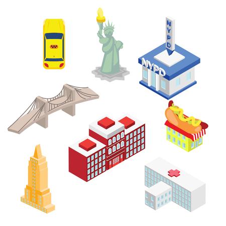 Icona delle attrazioni di New York.