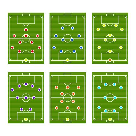 Football play scheme tactics vector.