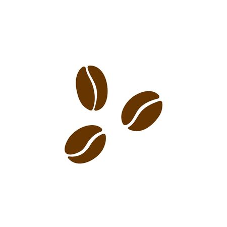 Coffee beans vector isolated icon on white illustration.